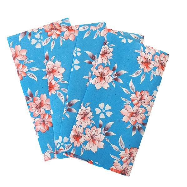 ベトナム 包装紙 花柄  小袋  4枚セット(単色)【画像3】