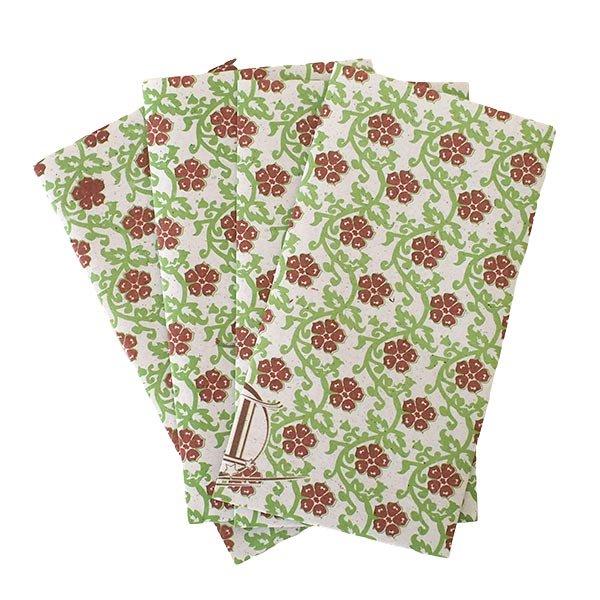 ベトナム 包装紙 花柄  小袋  4枚セット(単色)【画像4】