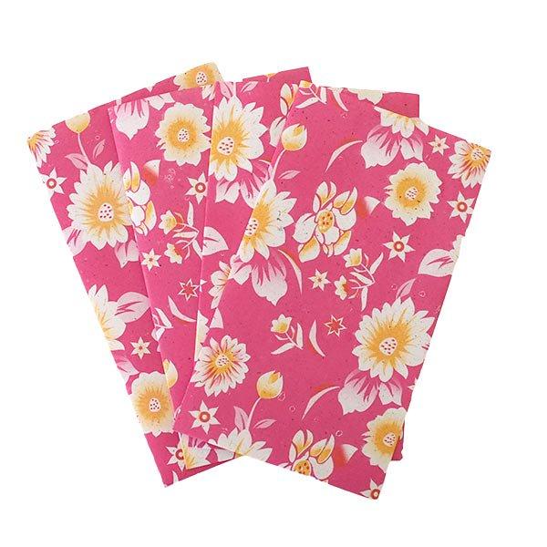 ベトナム 包装紙 花柄  小袋  4枚セット(単色)【画像5】