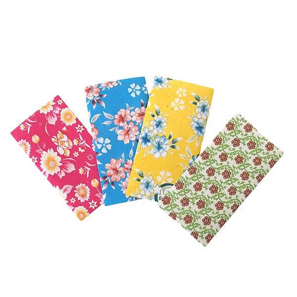 ベトナム 包装紙 花柄  小袋  4枚セット(ミックス)【画像2】