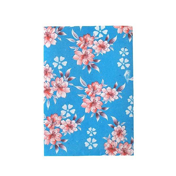 ベトナム 包装紙 花柄   ポストカードサイズ  4枚セット(ミックス)【画像3】