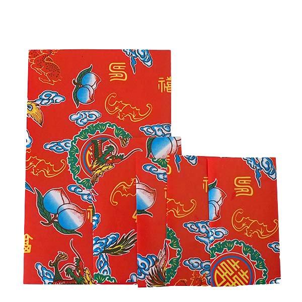 ベトナム 包装紙 縁起の良い柄  小袋  4枚セット