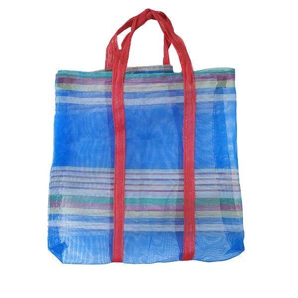 ベトナム お買い物 メッシュバッグ(ブルー)
