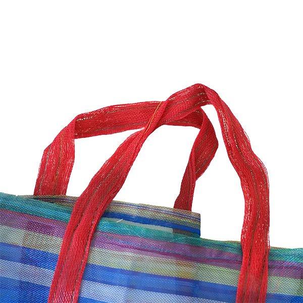 ベトナム お買い物 メッシュバッグ(ブルー)【画像2】