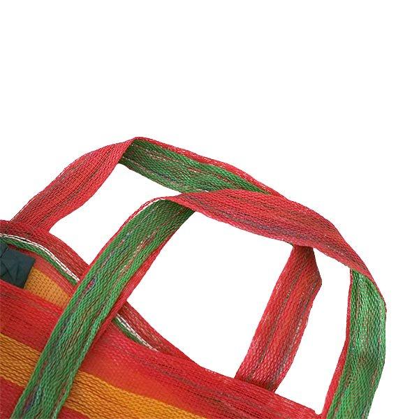 ベトナム お買い物 メッシュバッグ(レッド)【画像2】