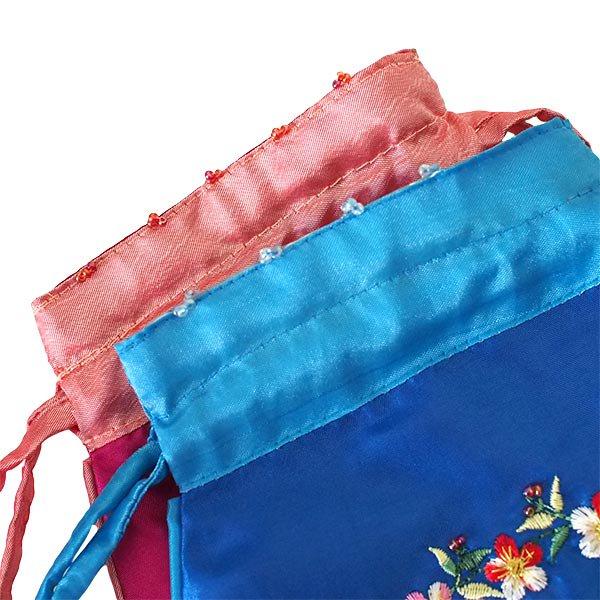 ベトナム 花刺繍 巾着 (ビーズ付き 5色 )【画像5】