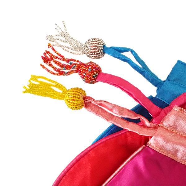 ベトナム 花刺繍 巾着 (ビーズ付き 5色 )【画像6】