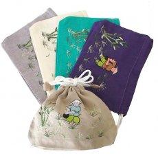 ベトナム 手刺繍 巾着 (田植えをする 5色)