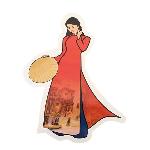 ベトナム ポストカード (VIETNAM POST フォルムカード Aodai アオザイ)