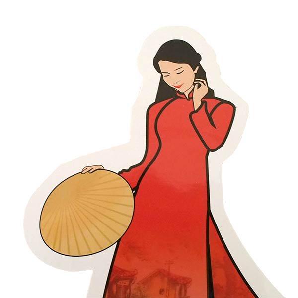 ベトナム ポストカード (VIETNAM POST フォルムカード Aodai アオザイ)【画像4】