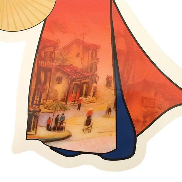 ベトナム ポストカード (VIETNAM POST フォルムカード Aodai アオザイ)【画像5】