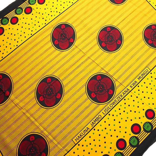 アフリカ タンザニア カンガ プリント布 110×160(神様に解決できないことは何もありません)