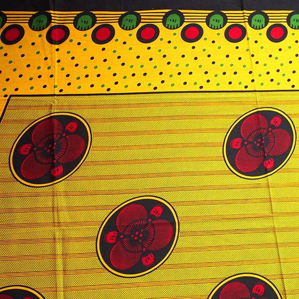 アフリカ タンザニア カンガ プリント布 110×160(神様に解決できないことは何もありません)【画像3】