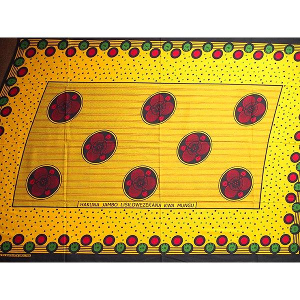 アフリカ タンザニア カンガ プリント布 110×160(神様に解決できないことは何もありません)【画像4】