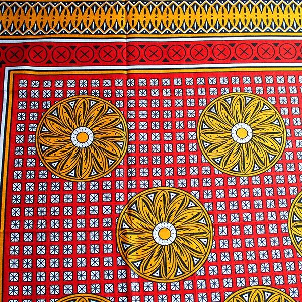 アフリカ タンザニア カンガ  プリント布 110×160(つらいでしょうが、これもすべて天からの試練です)【画像3】