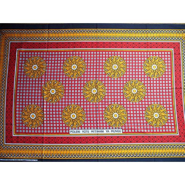 アフリカ タンザニア カンガ  プリント布 110×160(つらいでしょうが、これもすべて天からの試練です)【画像4】
