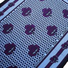 紫・パープル アフリカの布 カンガ(すべてのことに感謝しましょう)