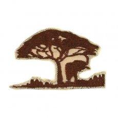 ゾウ(ぞう) 雑貨 アフリカン サファリ 刺繍 ワッペン