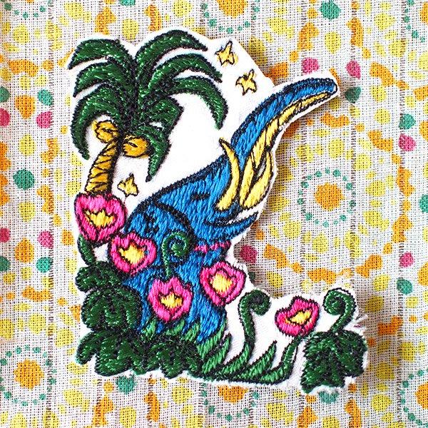ゾウ 刺繍 ワッペン (アイロンOK)【画像2】