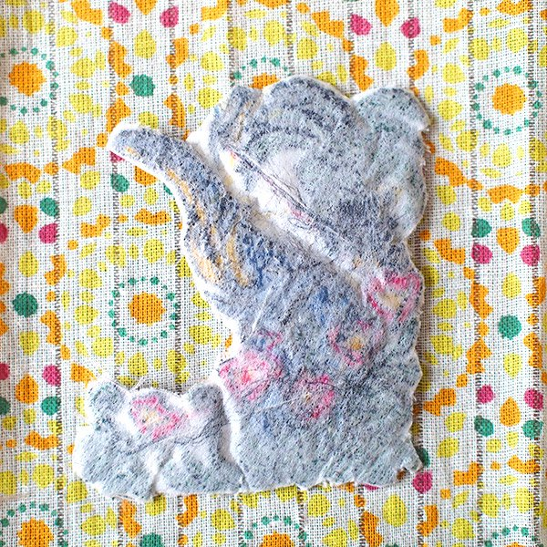 ゾウ 刺繍 ワッペン (アイロンOK)【画像5】