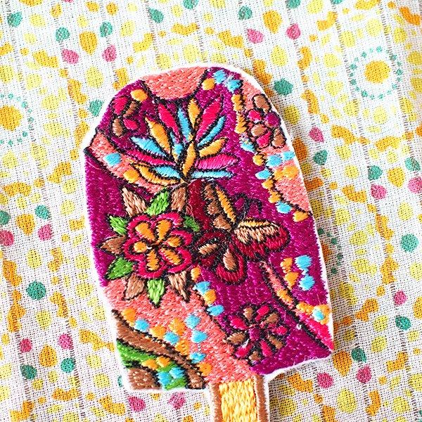 キノコ 刺繍 ワッペン【画像3】