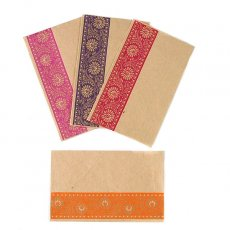 紫・パープル インド chimanlalsのミニ封筒(4色)