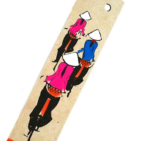 ベトナム 手描きしおり【Hand peinted book mark】(A)【画像3】
