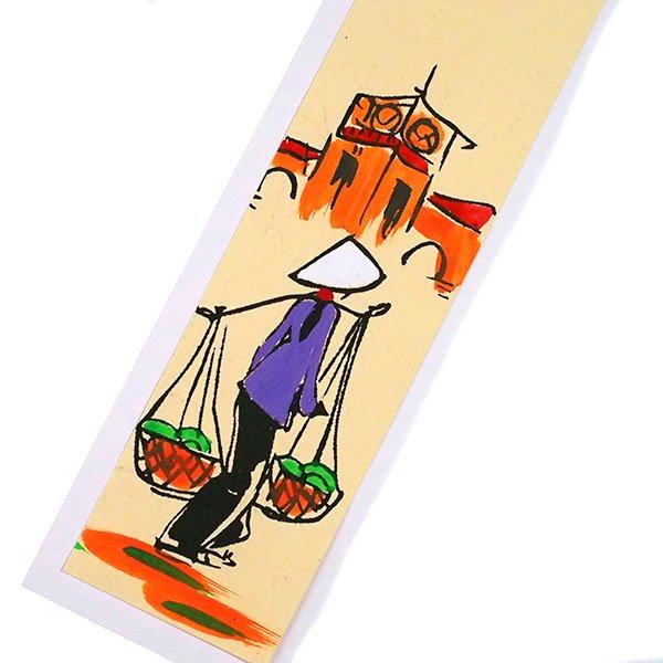 ベトナム 手描きしおり【Hand peinted book mark】(A)【画像5】