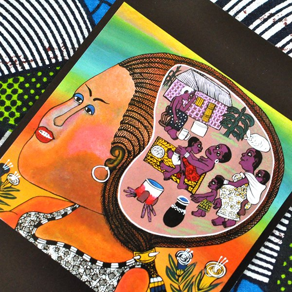 ティンガディンガ ポストカード「望郷〜都会に出た娘の見る夢は」