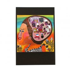 ティンガティンガ ポストカード「望郷〜都会に出た娘の見る夢は」