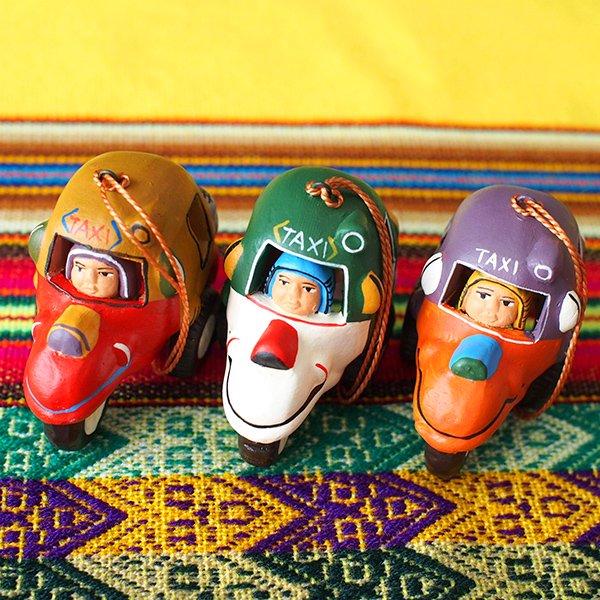 ペルー  トゥクトゥク 素焼き キーホルダー【画像2】