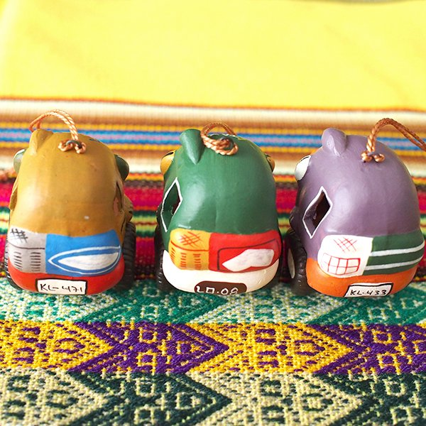 ペルー  トゥクトゥク 素焼き キーホルダー【画像3】