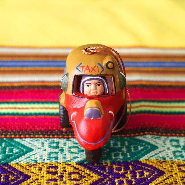 ペルー  トゥクトゥク 素焼き キーホルダー【画像4】