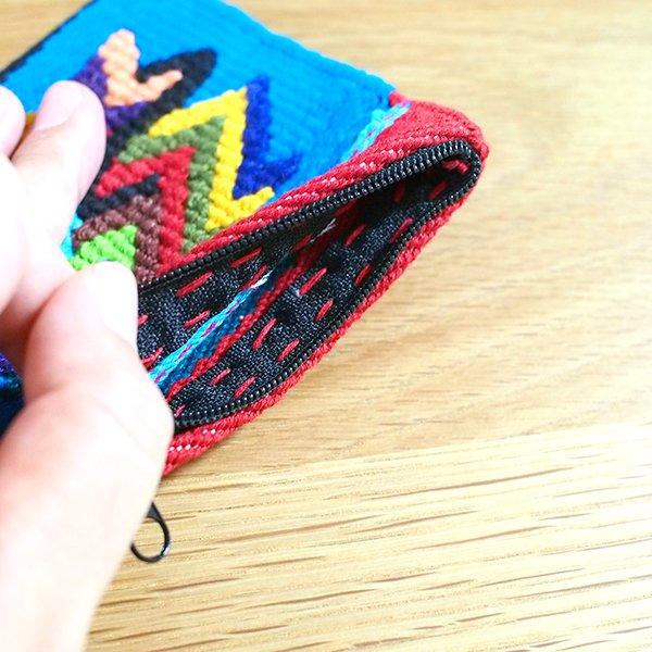 グアテマラ カラフルなコインケース(つづれ織り)【画像7】