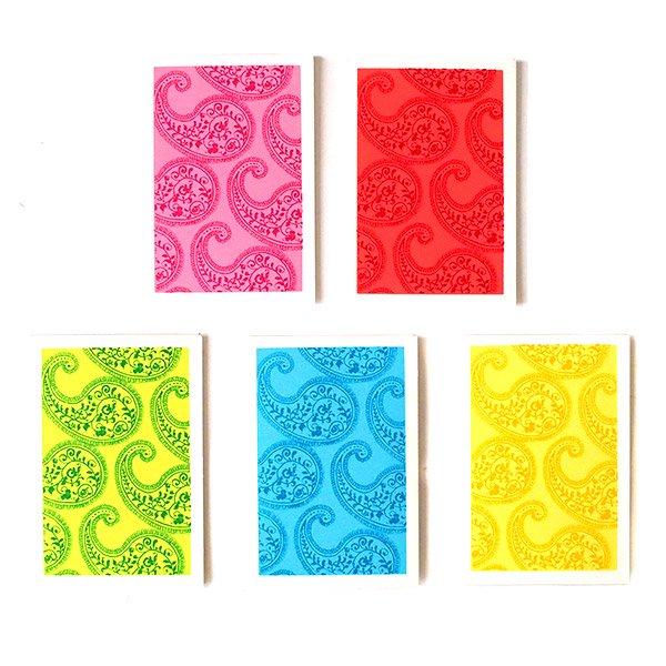 インド chimanlals(チマンラール)ペイズリー ミニ メッセージカード(封筒なし)