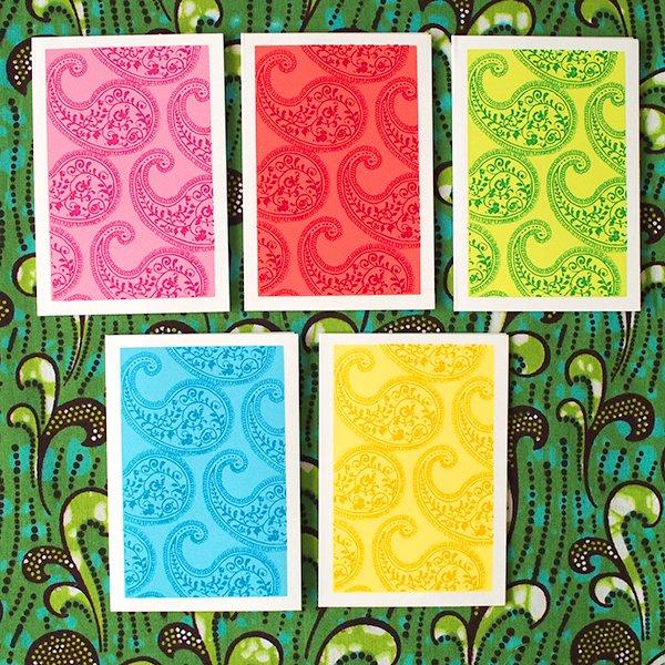 インド chimanlals(チマンラール)ペイズリー ミニ メッセージカード(封筒なし)【画像2】
