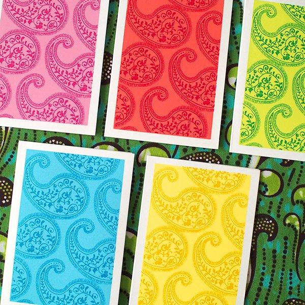 インド chimanlals(チマンラール)ペイズリー ミニ メッセージカード(封筒なし)【画像3】