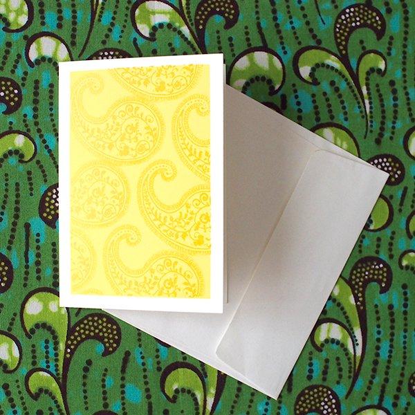 インド メッセージカード(ペイズリー)