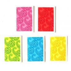 青・ブルー 雑貨 インド chimanlals(チマンラール)ペイズリー ミニ メッセージカード(封筒なし)