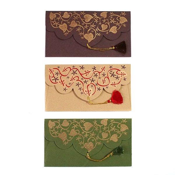 インド chimanlals(チマンラール)の封筒 葉っぱA【画像3】