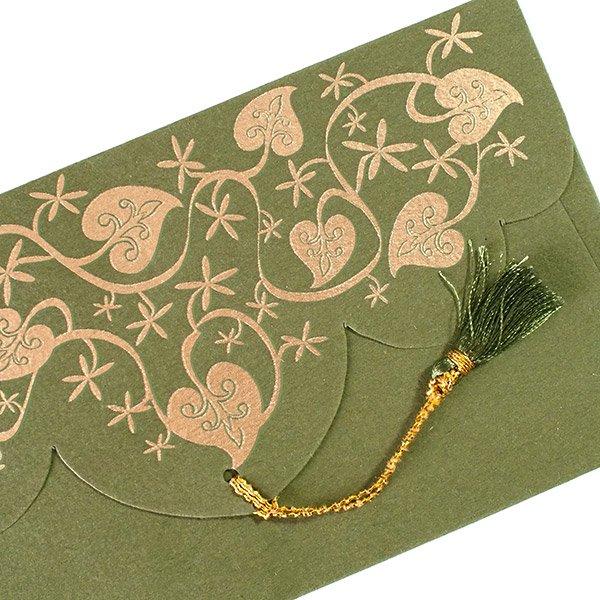 インド chimanlals の封筒( 葉っぱ模様)