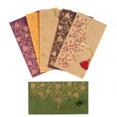 chimanlals 封筒&メッセージカード インド chimanlals の封筒( 葉っぱ模様)