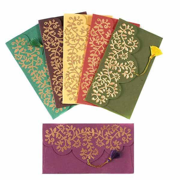 インド chimanlalsの封筒(ツルクサA)