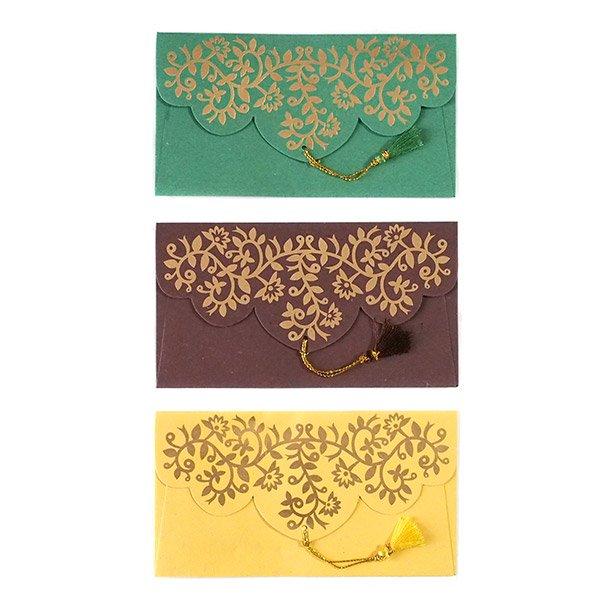 インド chimanlalsの封筒(ツルクサA)【画像2】