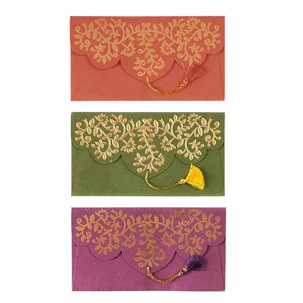 インド chimanlalsの封筒(ツルクサA)【画像3】
