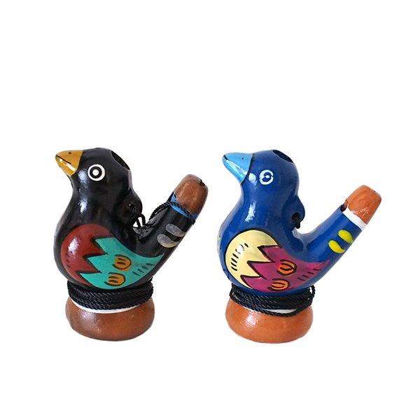 ペルー 素焼き トリの水笛(紐付き)【画像3】
