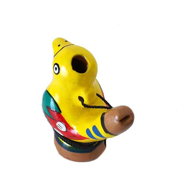 ペルー 素焼き トリの水笛(紐付き)【画像5】