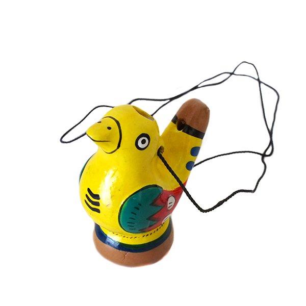 ペルー 素焼き トリの水笛(紐付き)【画像6】