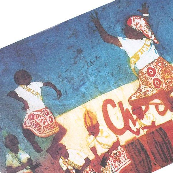 アフリカ バティック ポストカード【DANCE COMPETITION ダンス競技 】【画像2】