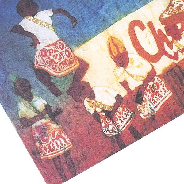 アフリカ バティック ポストカード【DANCE COMPETITION ダンス競技 】【画像3】